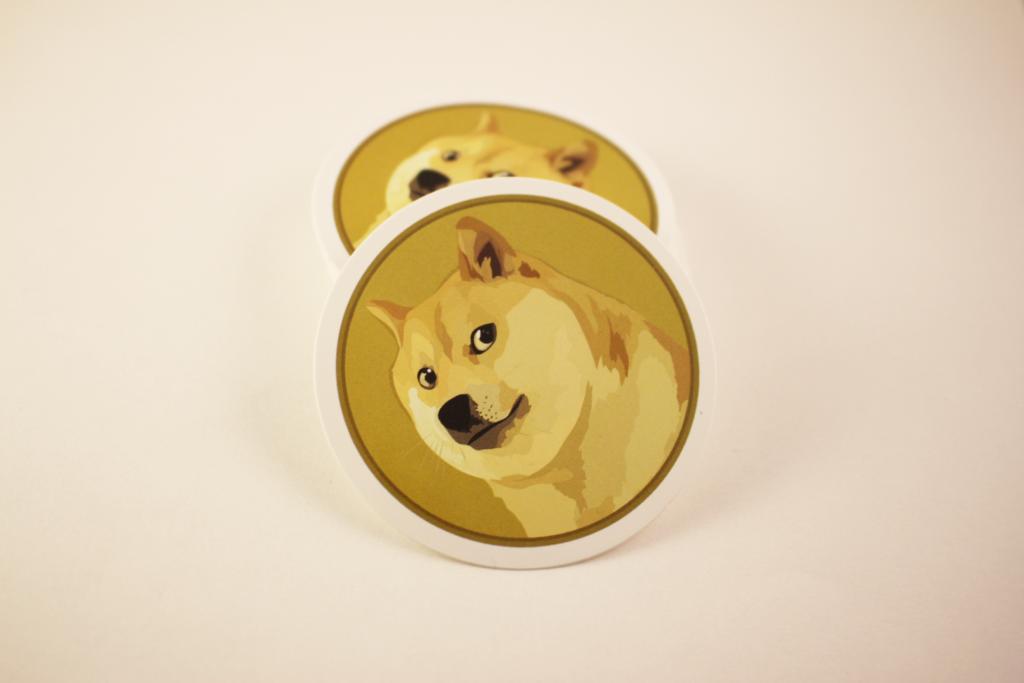 dogecoin sticker